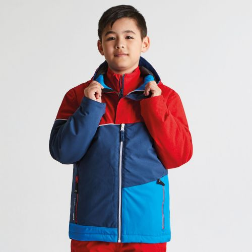 Dare2b KIDS DEBUT SKI JACKET - Code Red Texture Admiral Blue